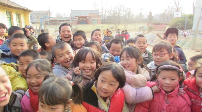 Children in 坡头村中国。