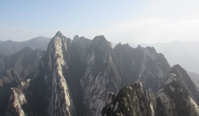 华山西安中国。 Mount Hua adventures