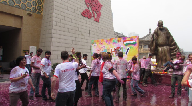 Holi Festival in Xian at Redfort Restaurant