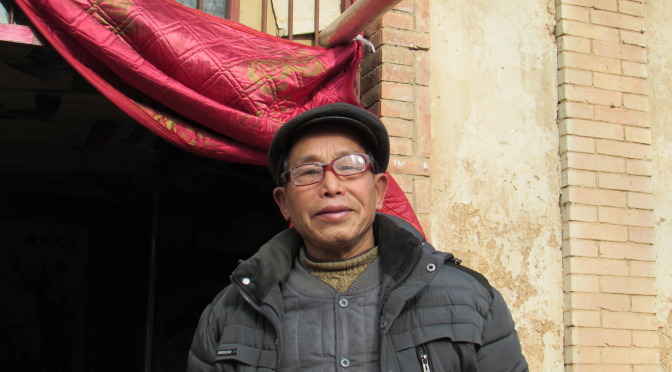 Northern Chinese villager singing for us.